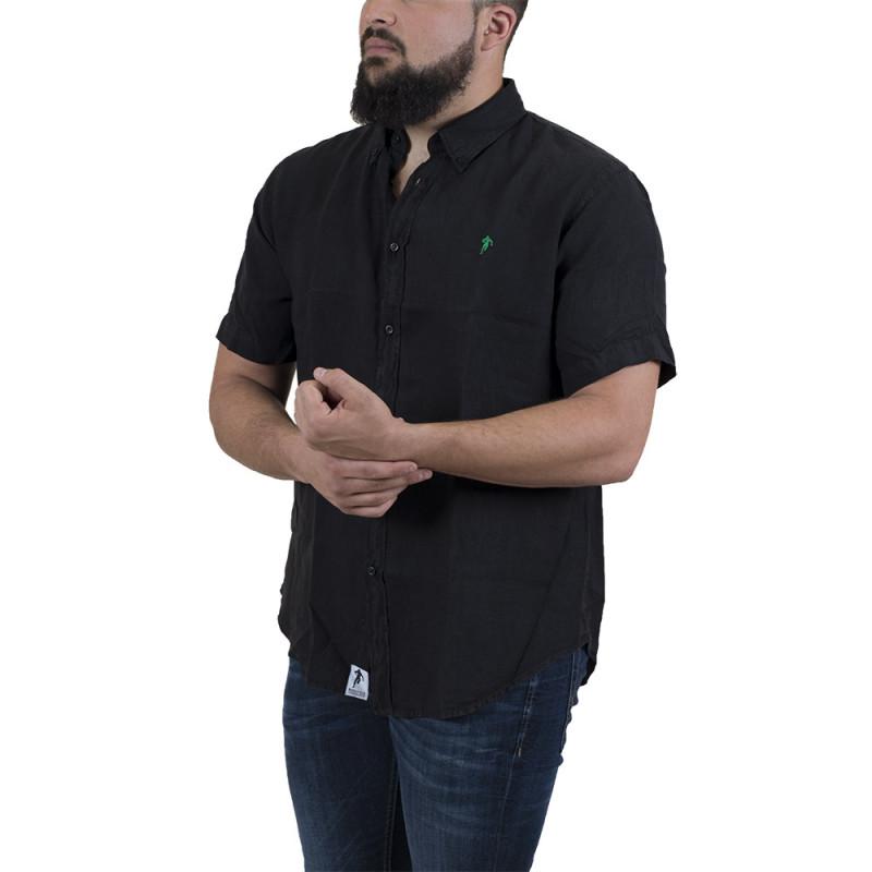 Chemise en lin noir