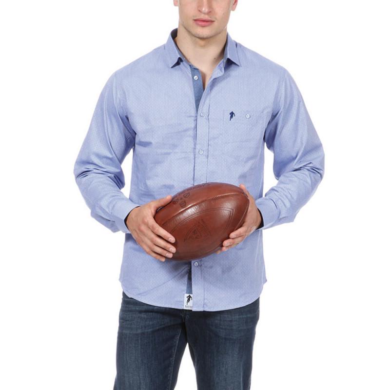 Chemise rugby essentiel bleu