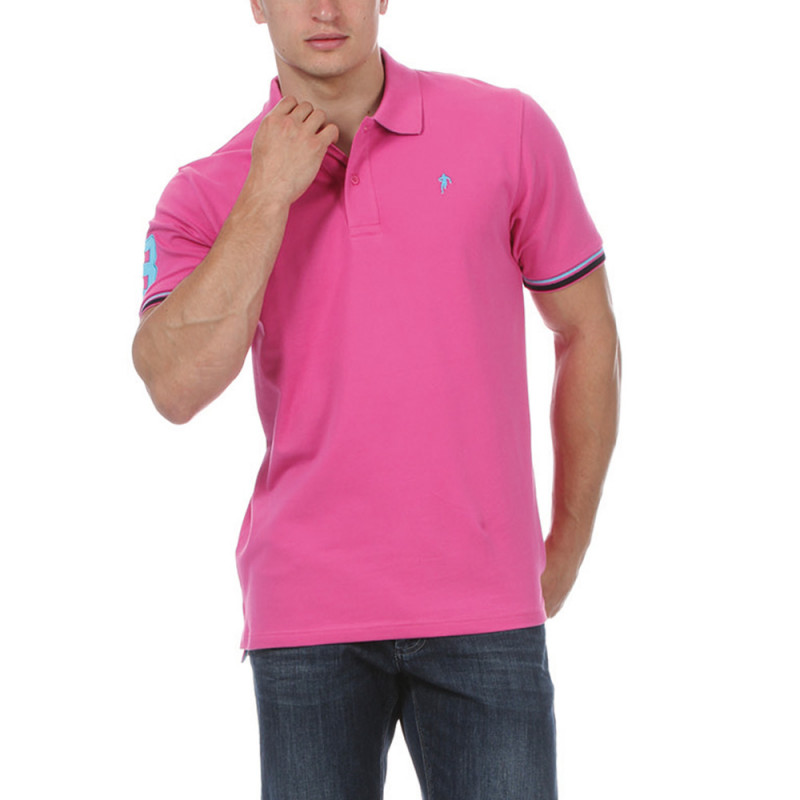 Polo fuschia Sebastien Chabal