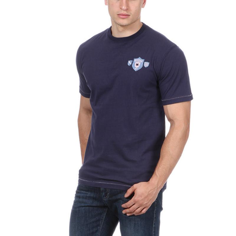 T-shirt bleu WAR brodé