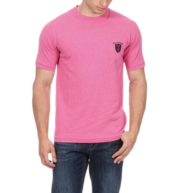 T-shirt rugby rose avec poche