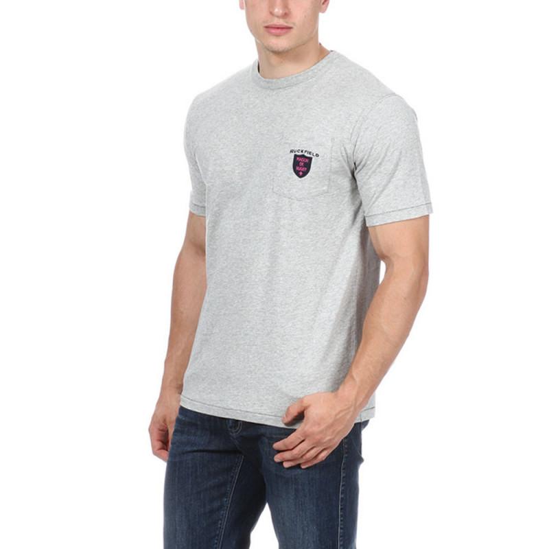 T-shirt rugby gris avec poche