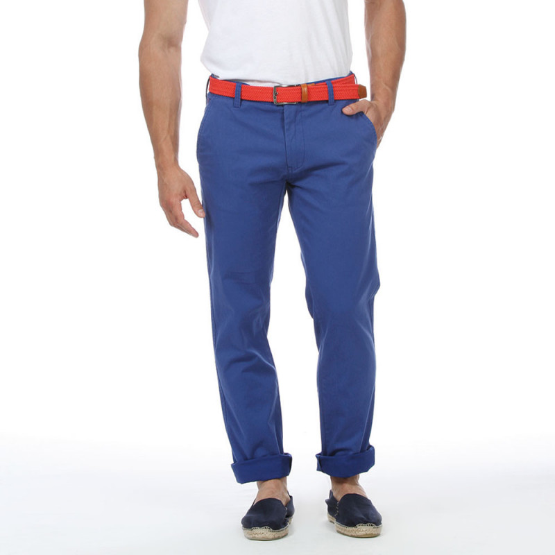 Pantalon chino bleu royal