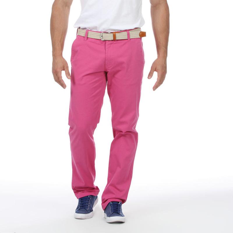Pantalon chino fuschia