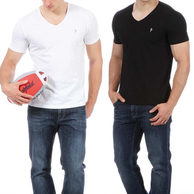 Lot de 2 t-shirts noir et blanc