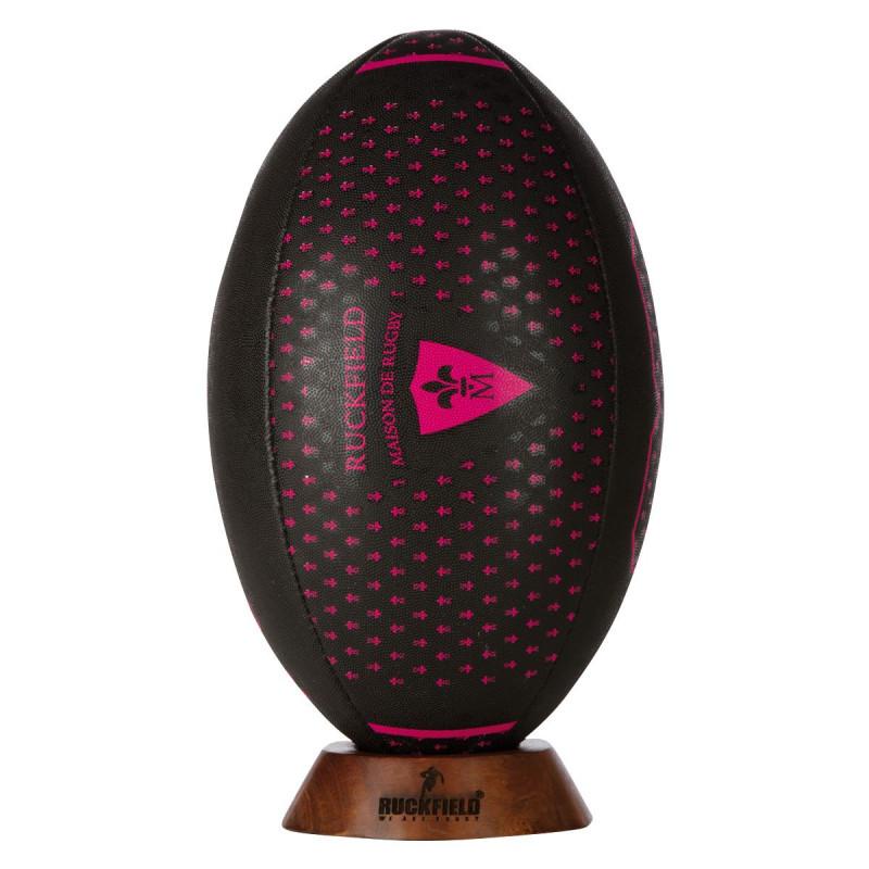 Ballon noir Maison de Rugby