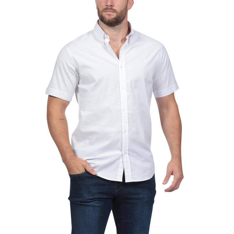 Chemise blanche à manches courtes Rugby Essentiel