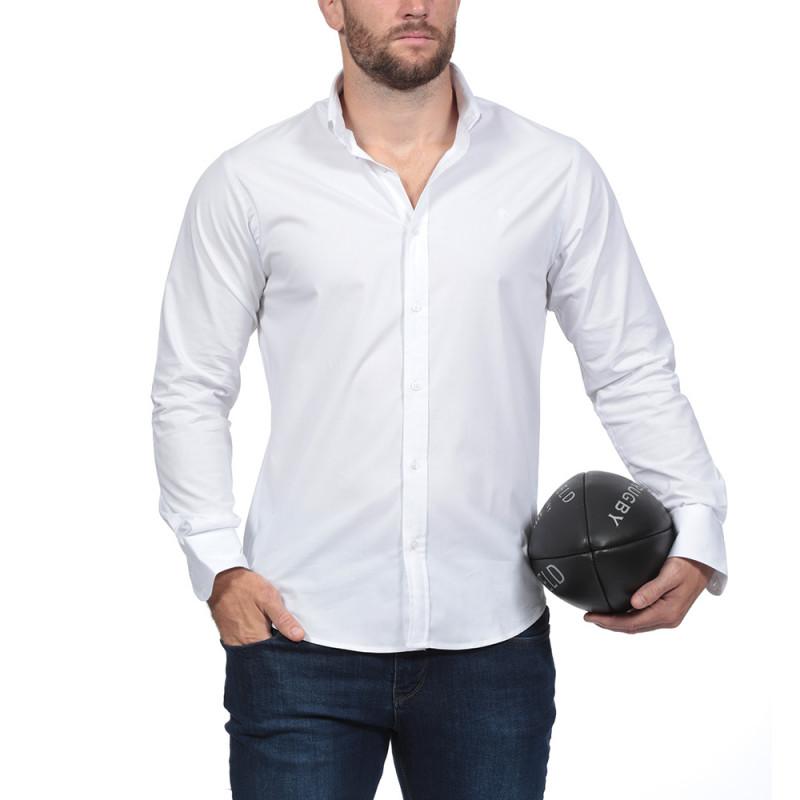 Chemise blanche à manches longues Rugby Essentiel