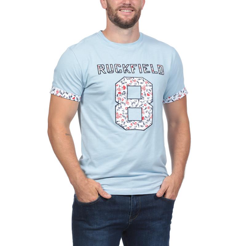 T-shirt Rugby Liberty Bleu Ciel
