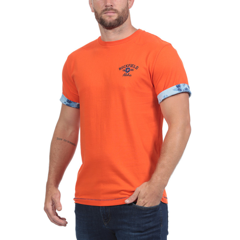 T-shirt Aloha Island Orange