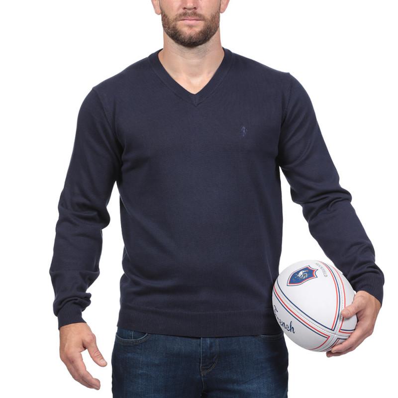Pull Rugby Essentiel Bleu Marine