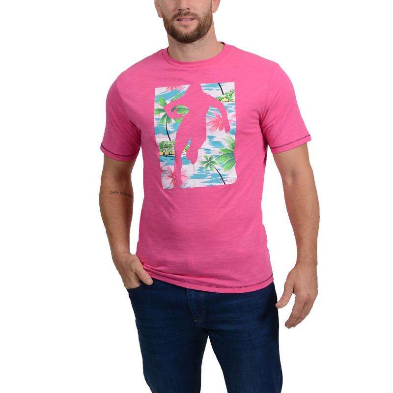 T-Shirt Chabal Island Fuschia