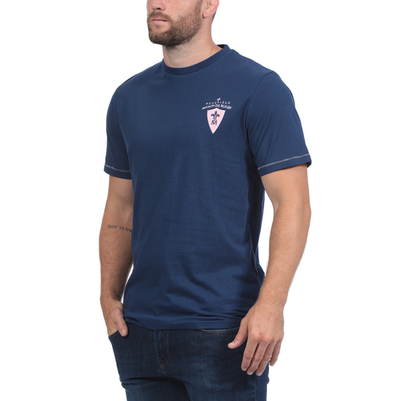 T-Shirt bleu maison de rugby
