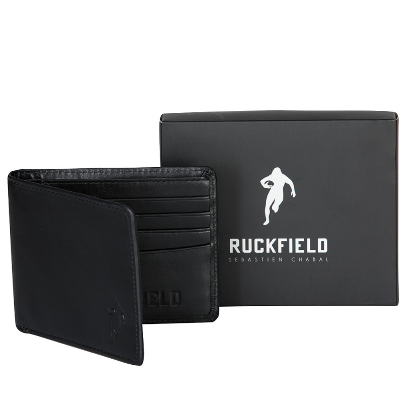 Portefeuille en cuir noir Ruckfield