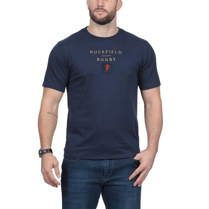 T-shirt bleu Rugby