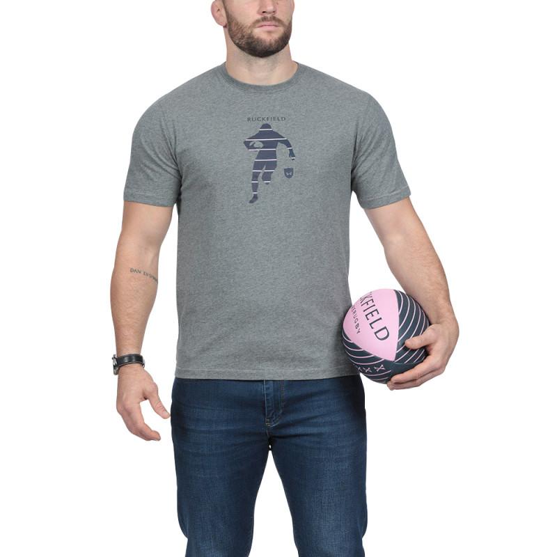 T-shirt gris Sébastien Chabal