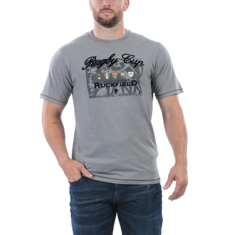 T-shirt gris rugby cup