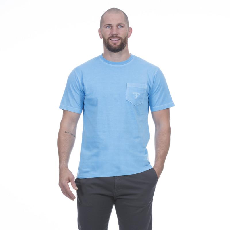 T-shirt homme été bleu clair
