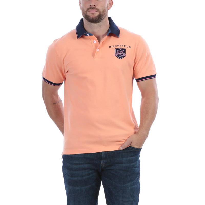 Polo orange Maison de Rugby