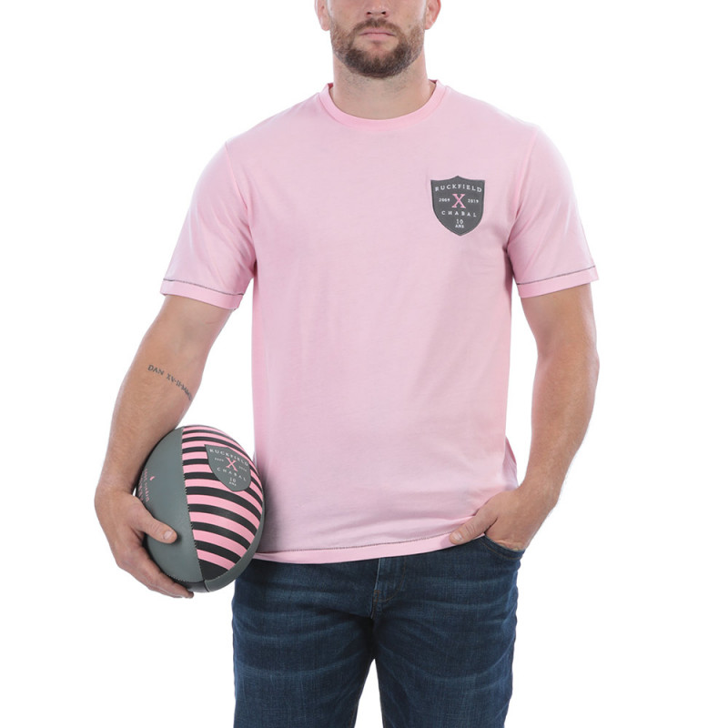 T-shirt rugby rose