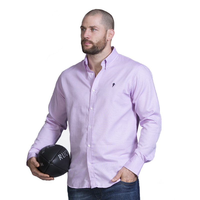 Chemise rose rugby
