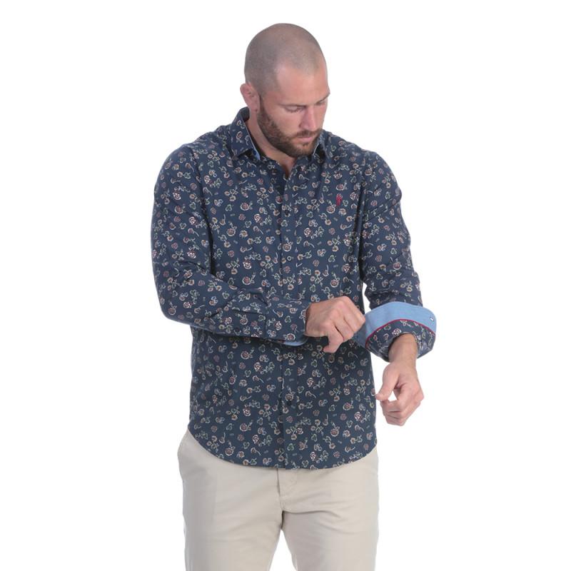 Chemise homme à fleurs