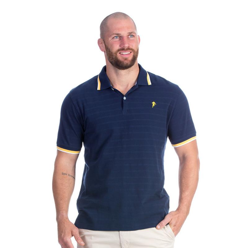 Polo bleu marine rugby élégance