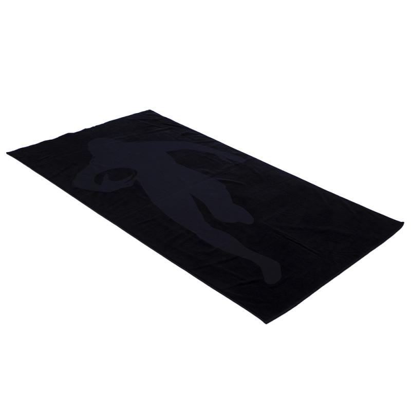 Drap de plage noir imprimé