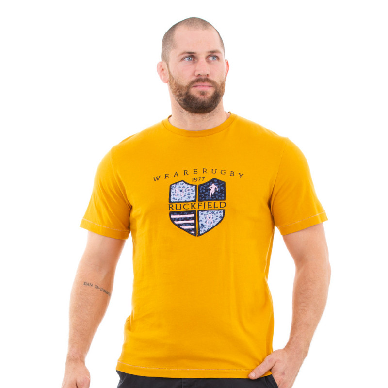 T-shirt moutarde we are rugby