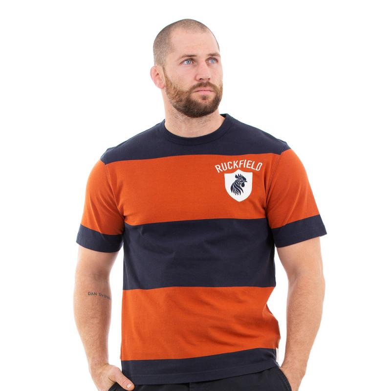 T-shirt orange rugby héritage