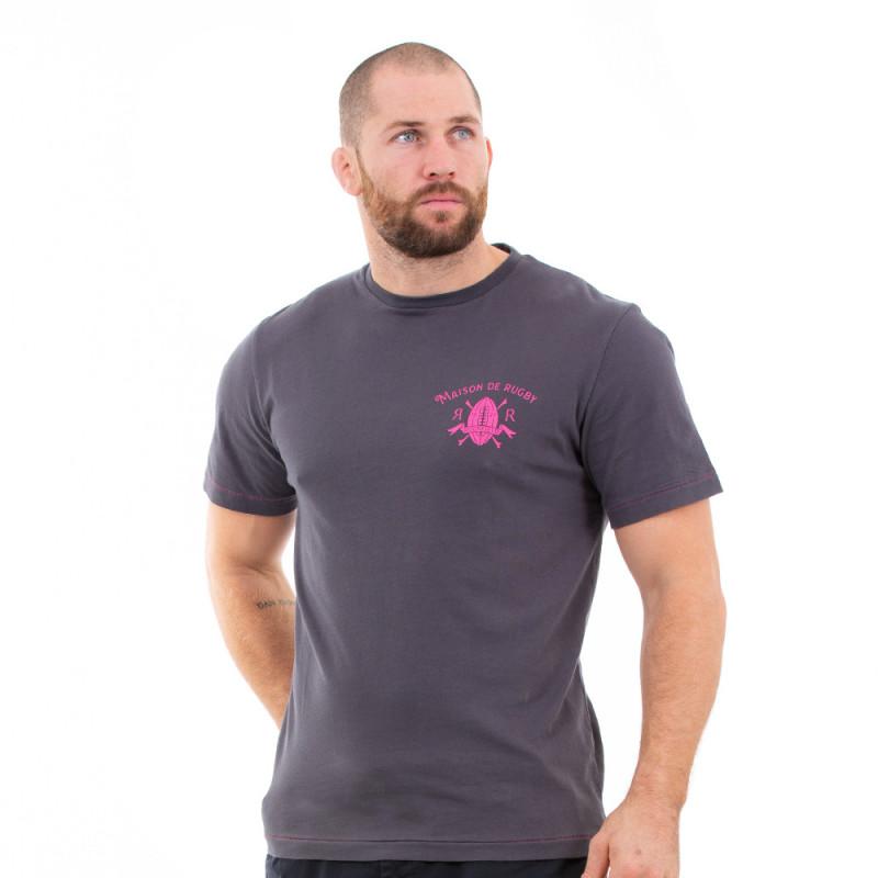 T-shirt gris maison de rugby