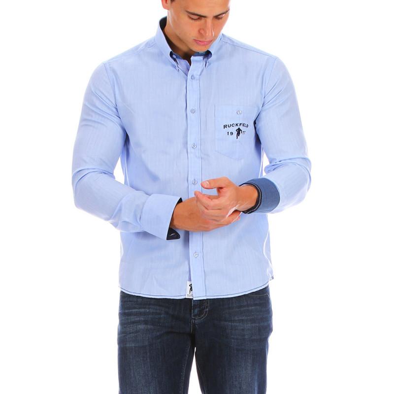 Chemise rugby bleu ciel