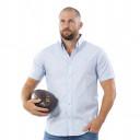 Chemise bleue à manches courtes Rugby Essentiel