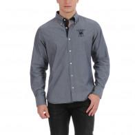 Chemise à imprimé bleu avec coq France
