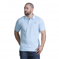 Polo homme rugby bleu ciel