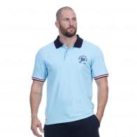 Polo bleu ciel rugby