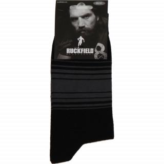 Chaussettes noires pour homme. Motif à rayures