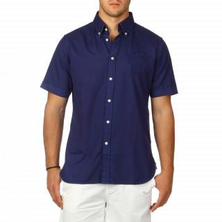 Chemise rugby à manches courtes bleue pour homme.