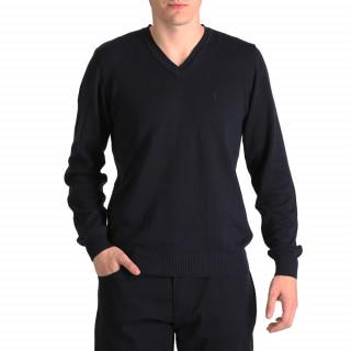 Pull bleu marine 100% Coton disponible du S au 5XL