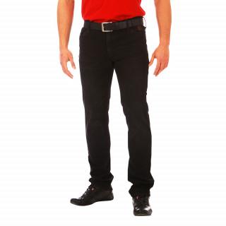 Jean noir, Ruckfield 100% coton. Coupe régular.