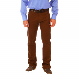 Pantalon 5 poches camel Ruckfield 97% Coton 3% Elasthanne