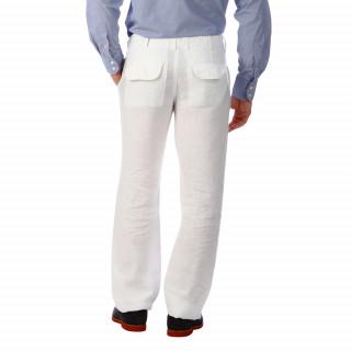 Pantalon en lin blanc