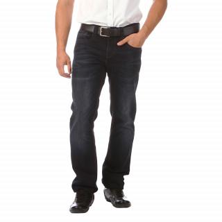 Jean en coton élasthanne 5 poches, coupe regular, drapeau France cousu au niveau de la braguette et broderie Sébastien Chabal, jacron en cuir sur l'arrière.