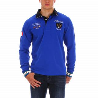 Polo de rugby en coton jersey  Road to England aux couleurs de l'Italie. Polos disponibles en grandes tailles :  jusqu'au 5XL.