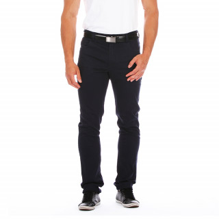 Pantalon bleu marine léger et fluide. Nous vous le proposons du 28/38 au 46/56.