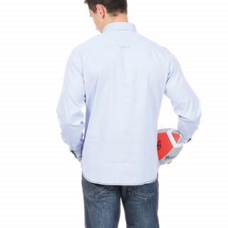 Chemise bleu ciel Rugby à la coq