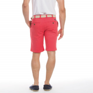 Bermuda chino rouge rugby