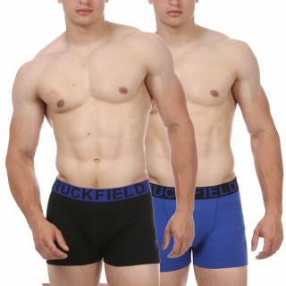 Lot de 2 boxers Ruckfield unis en coton et élasthanne.