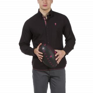 Chemise homme noire à manches longues Maison de Rugby