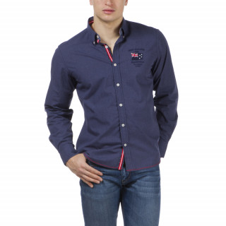 Chemise homme bleu à manches longues by Ruckfield